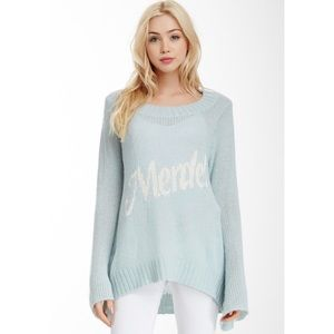Wildfox white label Merde sweater blue M